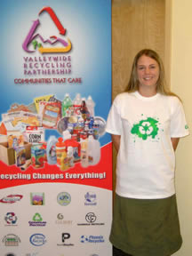 VRP and CW6 recycling t-shirt design contest winner Jayme Tooze